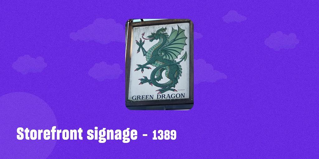 Storefront signage – 1389