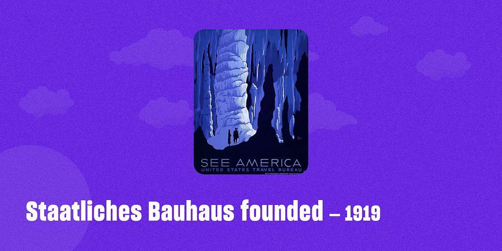 Staatliches Bauhaus founded – 1919